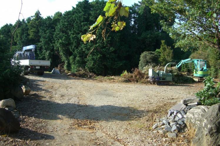当社所有の作業場及び植木等資材置場(600坪)