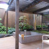 箱根強羅ホテル『白檀』個室露天風呂の庭